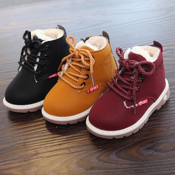 HaoChengJiaDe 2018 New Winter For Child Kid Girl Boy Snow Boots Comfort Thick Antislip Short Boots Fashion Cotton-padded Shoes 2