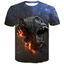 2019 summer Men's animal T-Shirt orangutan/tiger/Wolf 3D Printed Men Funny short sleeves tees tops men's t-shirts in large sizes 2019 wolf printed 3d t shirts men t shirts new design tops tees men women short sleeve shirt summer harajuku wolf animal xxxxl