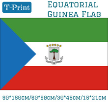 Free shipping 90*150cm/60*90cm/15*21cm/30*45cm Car Flag  The Republic Of Equatorial Guinea National 3x5ft Printed Banners