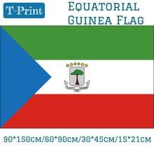 Free shipping 90*150cm/60*90cm/15*21cm/30*45cm Car Flag  The Republic Of Equatorial Guinea National Flag 3x5ft Printed Banners цена