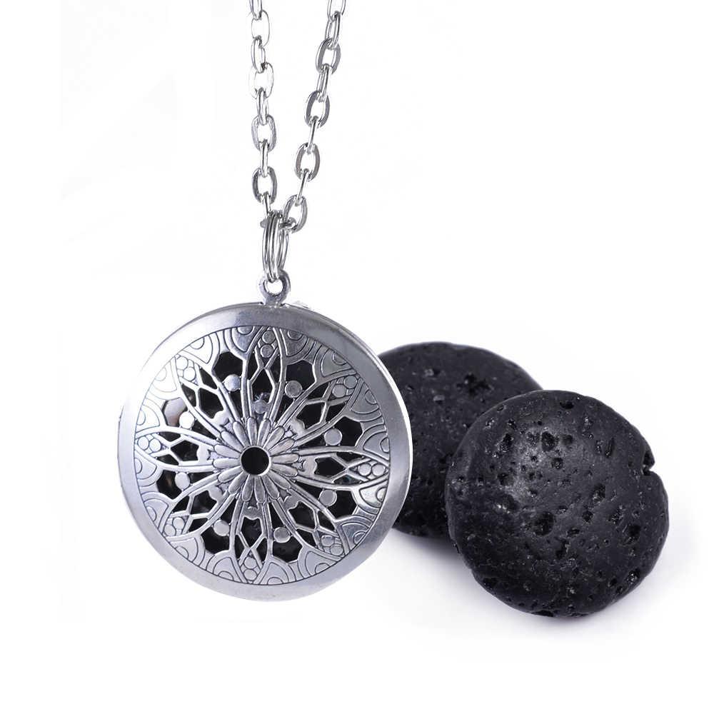 1 шт. старинное серебро 20 мм сплюснутый лаве камень 25 мм Фетр колодки диффузор Цепочки и ожерелья для Эфирные масла Цепочки и ожерелья украшения подарок