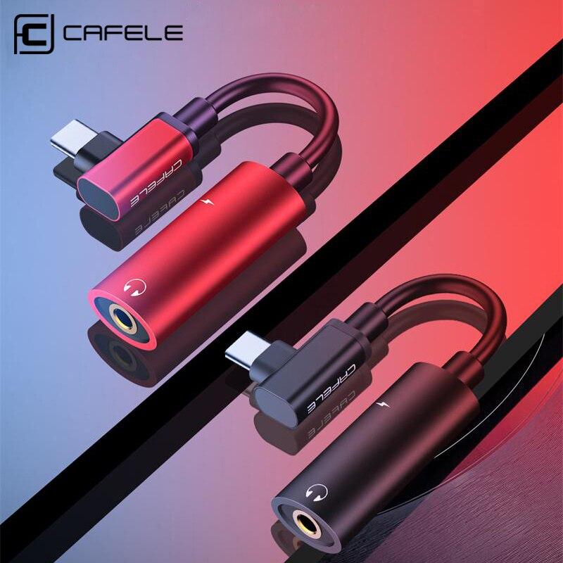 Купить с кэшбэком Cafele USB Type C to 3.5mm OTG Adapter For Huaiwei P20 30 pro Headphone jack 3.5mm AUX USB C Cable For  Xiaomi 9 8 Redmi K20 pro