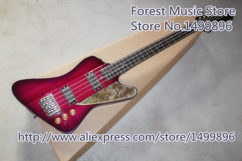 Vente chaude 8 cordes Thund Bird guitare basse électrique même que les images livraison gratuite
