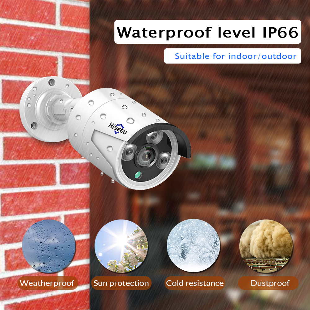 Image 2 - Hiseeu H.265 1080P POE IP Camera 2MP Bullet CCTV IP Camera ONVIF 2.0 for POE NVR System Waterproof Outdoor Night Vision 48Vip camera 2.0mpwdr ip camerapoe ip camera -