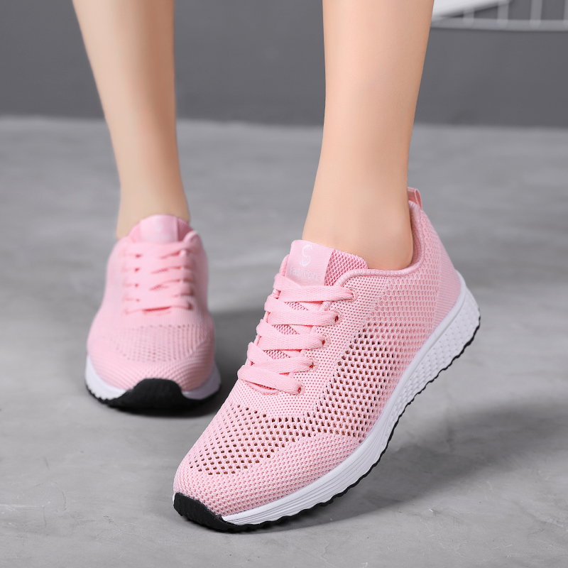 New Women Vulcanized Casual Shoes White Sneakers Women 2019 Fashion Breathable Walking Mesh Shoes Woman Gym Shoes Tenis Feminino(China)