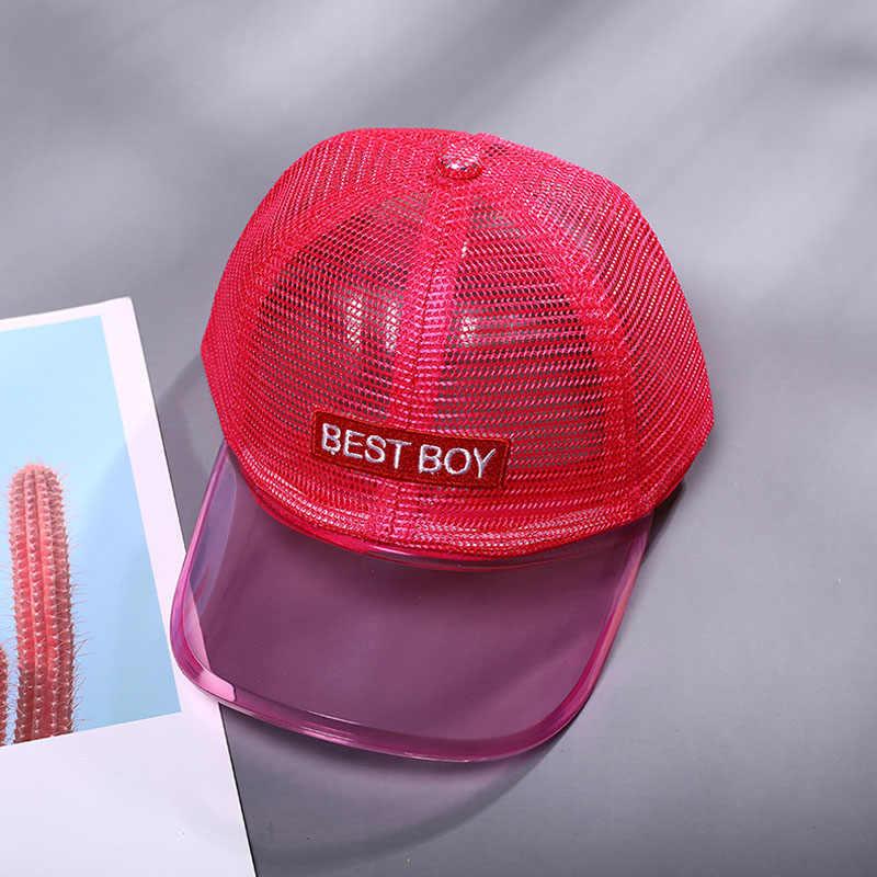Doitbest 2 ถึง 6 ปี 2019 เด็กหมวกเบสบอลหมวก Hip Hop เด็กหมวกดวงอาทิตย์ PVC brim top ตาข่ายที่ดีที่สุดเด็กชายหญิงหมวก snapback หมวก