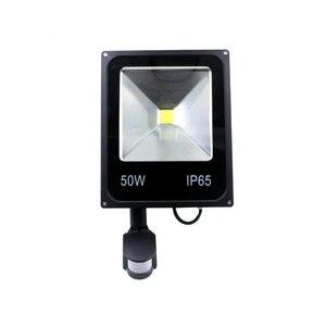 Image 2 - AC110V 220 Ultradunne 10 w 20 w 30 w 50 w LED Schijnwerper Met PIR Motion Sensor Detector waterdicht Spotlight outdoor IP65 Lampen