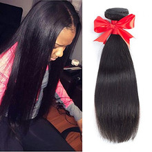 Brazilian Virgin Hair Straight Human Hair Weaving 4 Bundles 8A Unprocessed Straight Virgin Hair Extensions Natural Color
