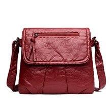 92b1e753a535 Бренд черные туфли высокого качества Малый для женщин курьерские сумки  очень мягкой промывают PU кожаная сумка мода женский коше.