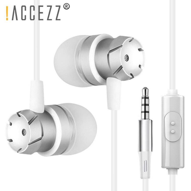 ! ACCEZZ наушники вкладыши 3,5 мм аудио разъем для наушников Наушники для Xiaomi Redmi samsung iphone huawei с микрофоном Проводная стереогарнитура
