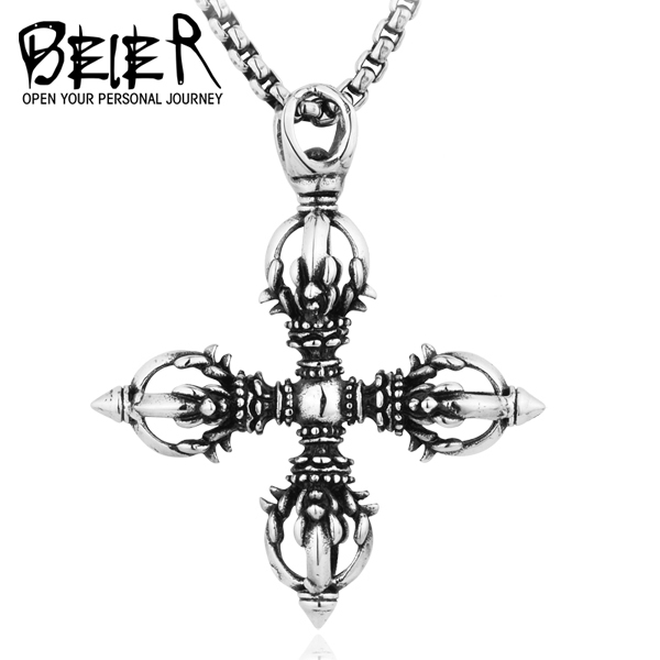 New 2017 stainless steel vajra pendant can bring lucky for man hot new 2017 stainless steel vajra pendant can bring lucky for man hot sale fashion jewelry bp8 mozeypictures Gallery