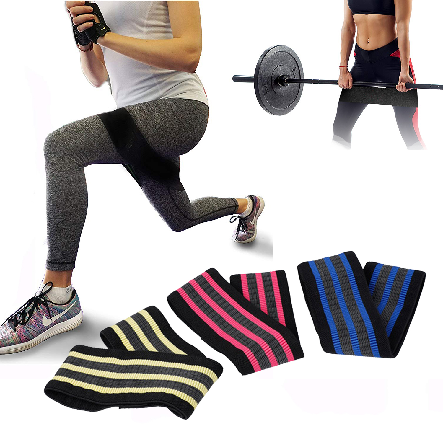 Exercise Bands Hips: Cotton Hip Band Resistance Bands Set Booty Exercise