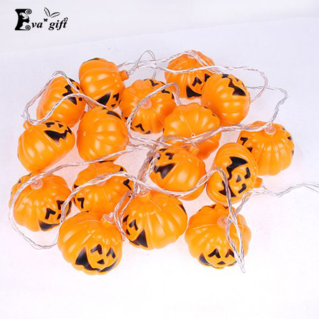 Halloween mini pumpkins LED lights Outdoor  led night light string lights party decor for bar KTV  mini Lantern decor 3m