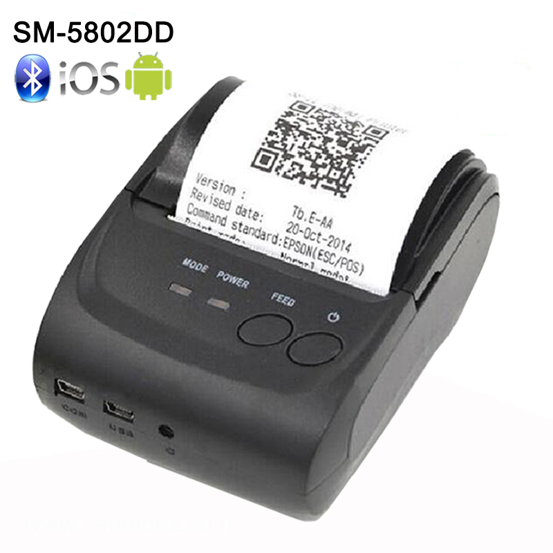 58mm Mini Wireless Bluetooth Android Portable Mobile Thermal Receipt Printer USB+serial port For Windows Android bluetooth wireless 58mm thermal dot receipt printer usb serial port android pc compatible