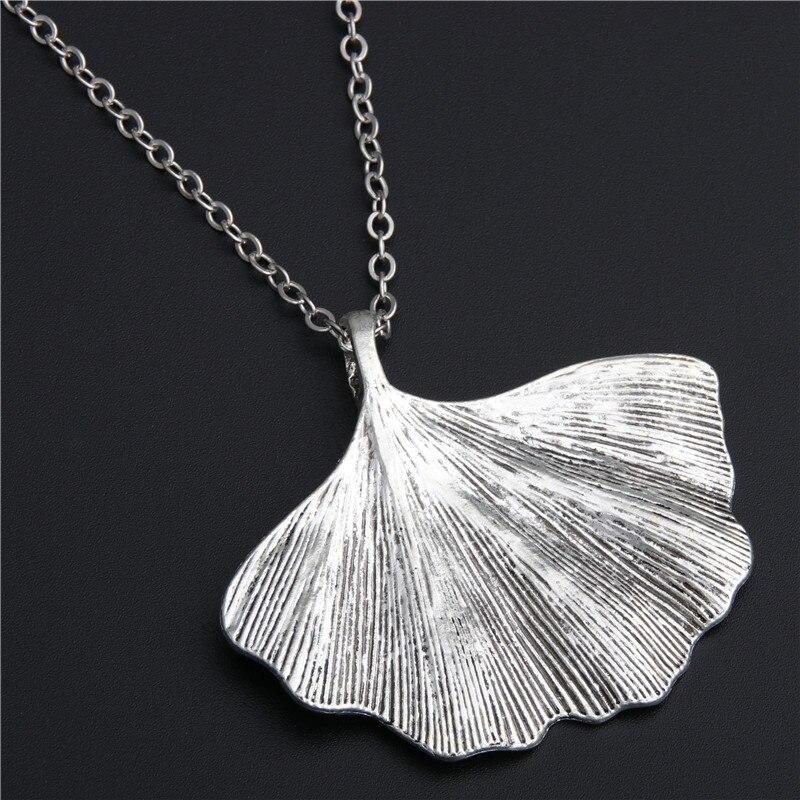 Женские ожерелья и кулоны в ретро стиле с листьями гинкго, 1 шт., серебряный цвет, E437 Ожерелья с подвеской      АлиЭкспресс