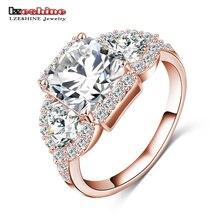 LZESHINE 2016 New Wedding Rings Gold/Silver Color Micro Inlay Zircon Angel Wings Rings Wholesale anillos de boda CRI0005