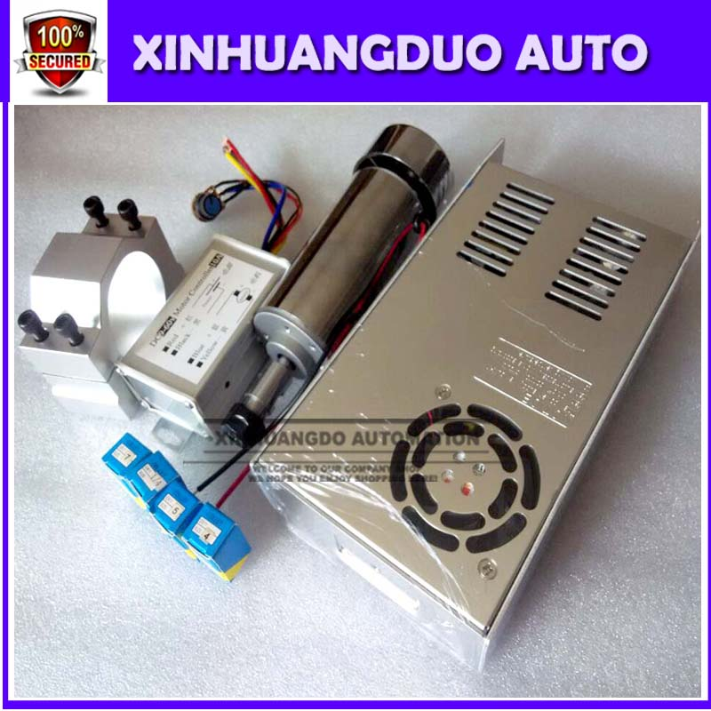 cnc spindle 400W air cooled milling Motor high speed spindle power converter 52mm clamp 5pcs er11