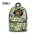 Lovely 3D Animal School Bags Dollar Cat Dog Kids Canvas Schoolbag for Boys Girls Cute Student Children Bookbag Mochila Infantil
