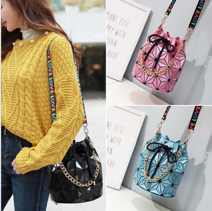 Kisumater HOT Womens Geometry Quality bag casual shoulder bag Luxury wide strap handbag Free Shipping Gold/Silver/Pink/Black