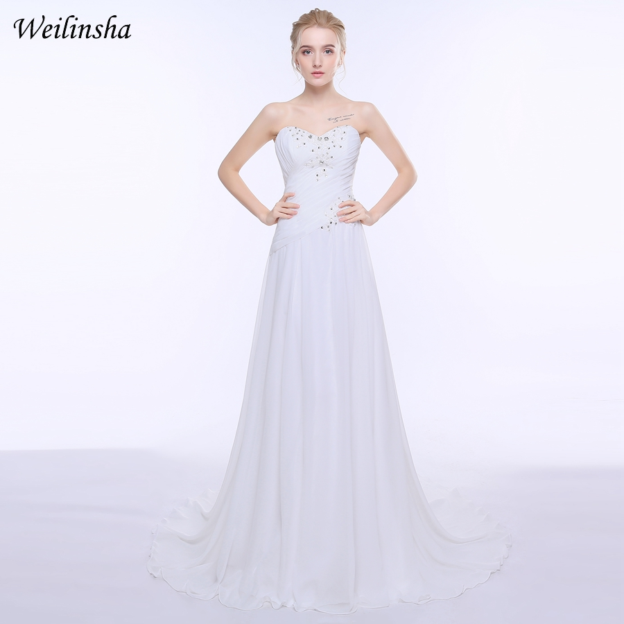 Wedding Dressing Gowns Personalised: Aliexpress.com : Buy Weilinsha Cheap Beach Stock Wedding
