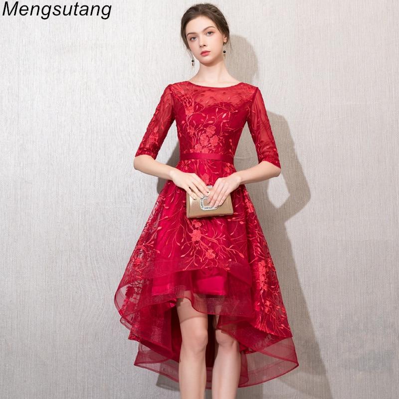 Robe de soiree Elegant Slim vestido de festa   evening     dress   with Appliques Short Front Long Back Party   Dress   prom formal   dresses