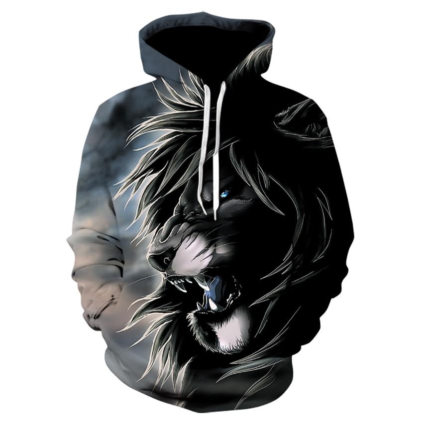 2017 Men hoodies hip hop sweatshirt funny 3D Tiger Lion fashion brand plus size S - 5XL hoodie men tracksuit unisex pullovers