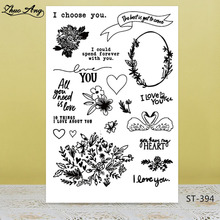 LOVE Flowers Transparent Silicone Stamps for DIY Scrapbooking/Photo Album Decorative Card Making Clear Supplies