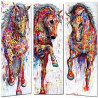 Huacan bordado con diamantes Pantalla Completa caballo colorido 5d diamante pintura Animal cuadrado completo foto de diamante de imitación mosaico diamante
