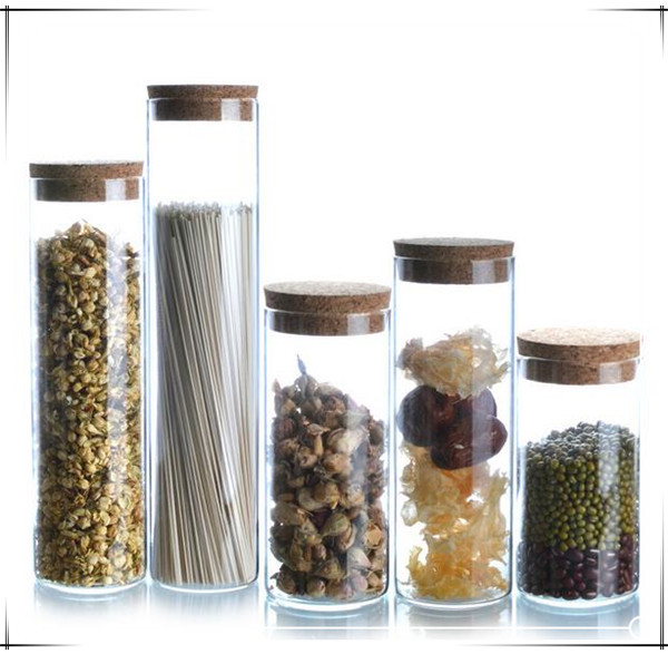 Glass Storage Bottle Jars 1 Pcs Food Container Kitchen Storage