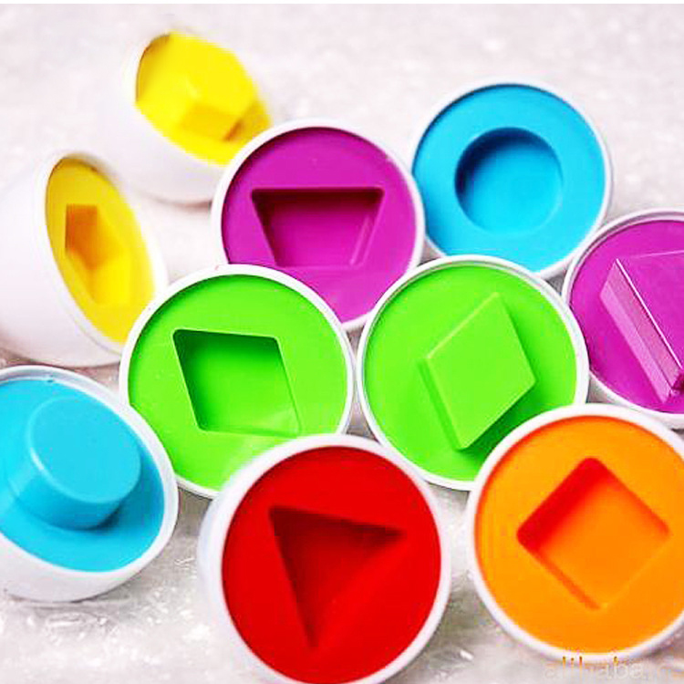 Learning Education Toys 6 Smart Egg/Set Wise Pretend Play Mixed Shape Puzzle For Toys Kids Tools Brain Games Newborn Baby Toys