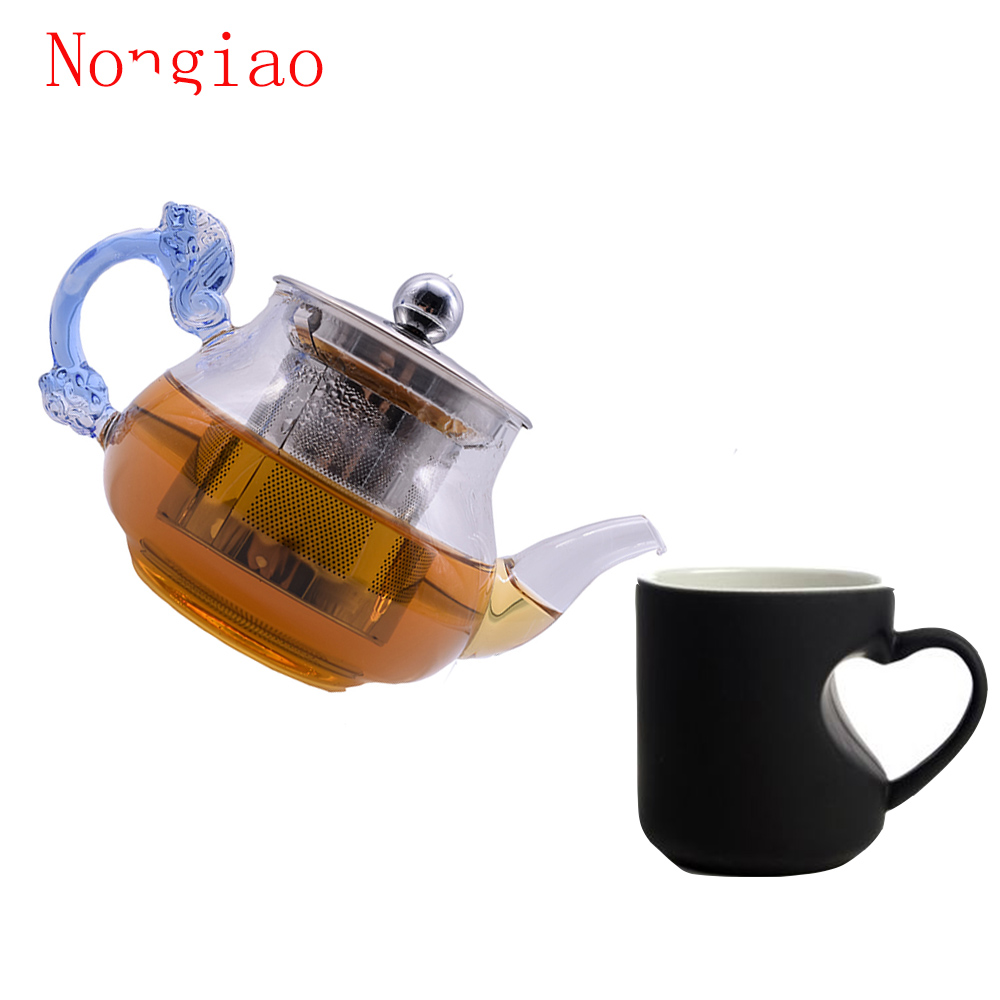 online buy wholesale modern teapots from china modern teapots  - new glass teapot mlhigh heat resistant tea pot with stainless steelfiltermodern blooming flower tea pots large teapots