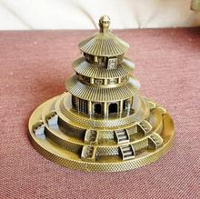 Beijing Tiantan ancient building metal Decoration China famous landmark model home decoration birthday gift