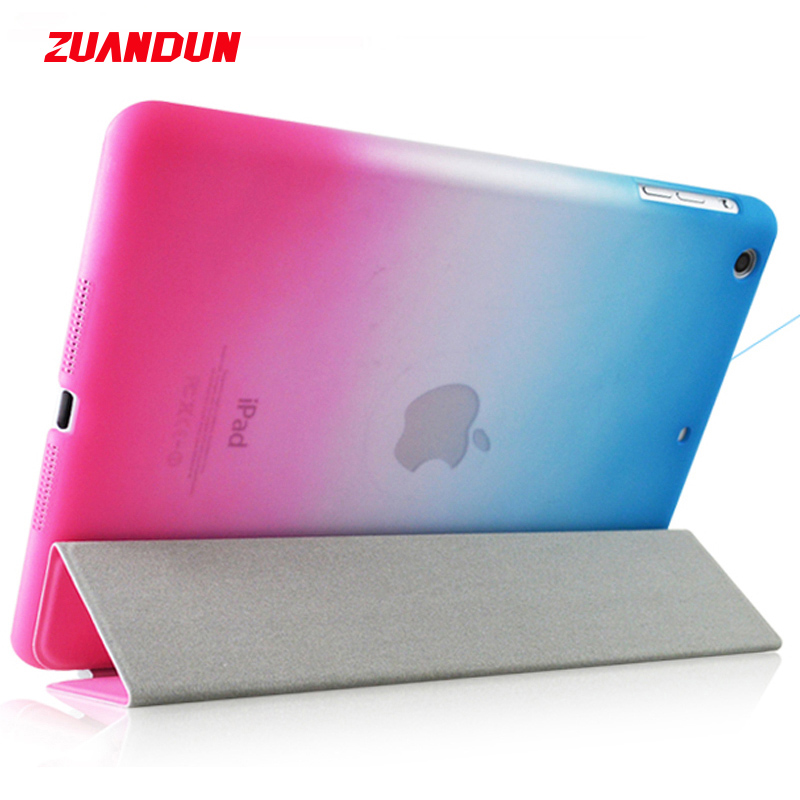 ZUANDUN Flip Case For Apple iPad Air Smart Cover Stand PC PU Leather Case For iPad Air 1 Tablet Case Auto Wake Up Sleep Capa case for ipad mini 1 2 3 smart cover soft tpu silicone back pu leather flip stand auto sleep wake up capa for ipad mini case