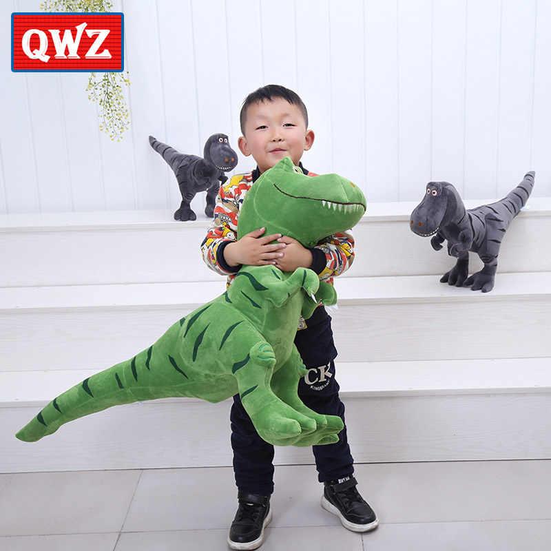 QWZ новый динозавр плюшевые игрушки мультфильм мягкая игрушка кукла тираннозавр прекрасный для мальчиков подарок на день рождения 40/55/100 см