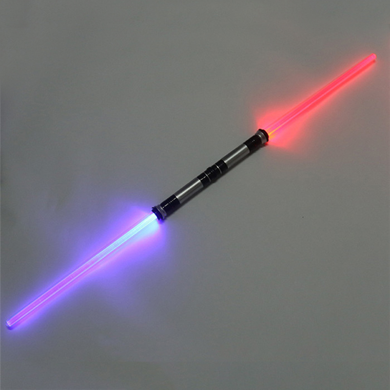2 Pcs Sound Lightsaber Cosplay Props Kids Double Light Saber Toy Sword for Boys Christmas Gifts