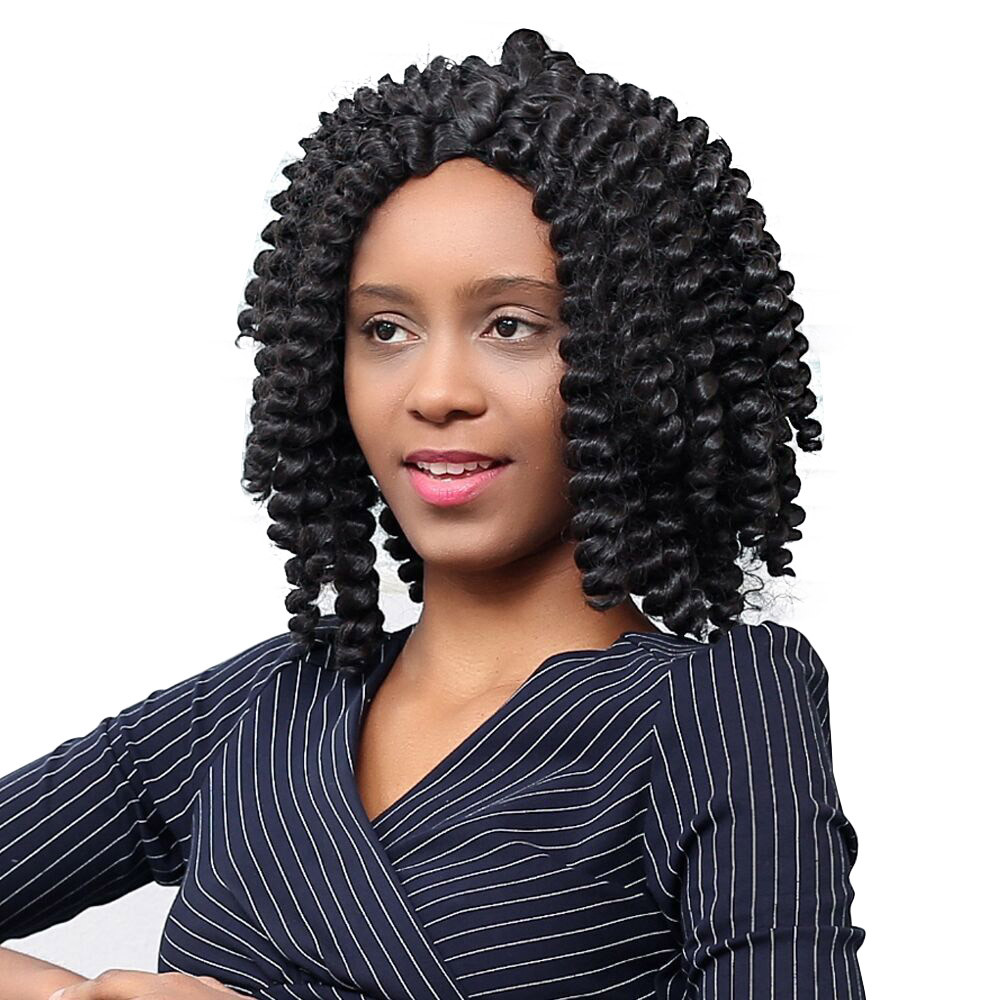 Long Curly Rolls wigs for black women African Style WeaveSimilar to human hair wigs front lace curly hair wigs front lace 652A