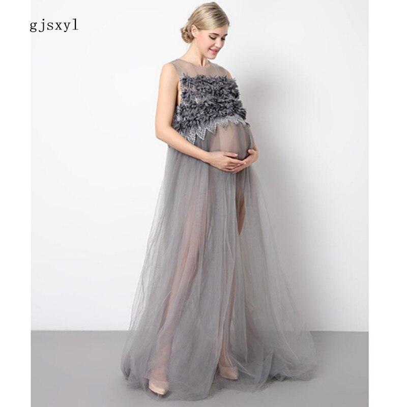 Sexy mode maternité photographie accessoires enceinte Costume fête soirée robe maternité Photo tournage femme enceinte Costume