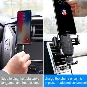 Image 4 - Baseus Qi 자동차 무선 충전기 아이폰 X Xs XR 8 7 10W 빠른 충전기 자동차 마운트 홀더 삼성 S9 S8 자동차 전화 충전기