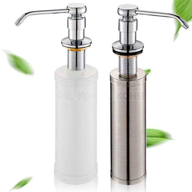 Kitchen Sink Soap Dispenser 304 Stainless Steel Detergent Bottle
