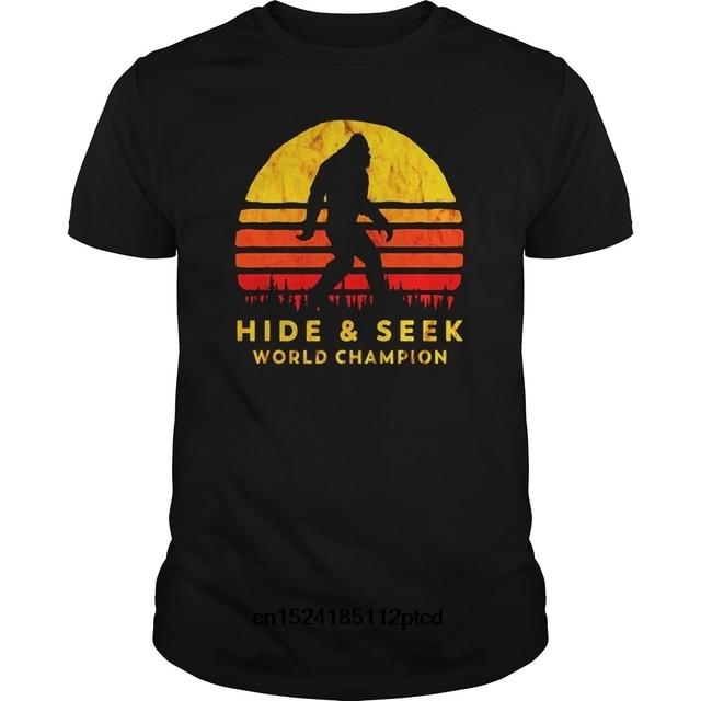 de469fc6 Funny Men t shirt Women novelty tshirt Retro Hide Seek World Champ Bigfoot  Sun Tee - Believe cool T-Shirt