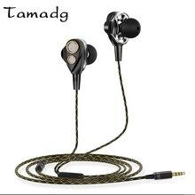 Dual Drive 6D Surround Estéreo Fones de Ouvido Com Fio com Quatro Alto-falantes de Choque Baixo Pesado Fone De Ouvido 3.5mm Fone de ouvido fone de ouvido