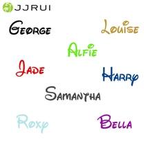 JJRUI персонализированное имя мальчик или девочка с виниловой наклейкой Наклейка на стену Размер S/M
