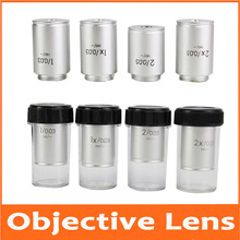 1X 2X Infinity 195 Lab Educational Biological Microscope Achromatic Objective Lens Optical With Standard RMS