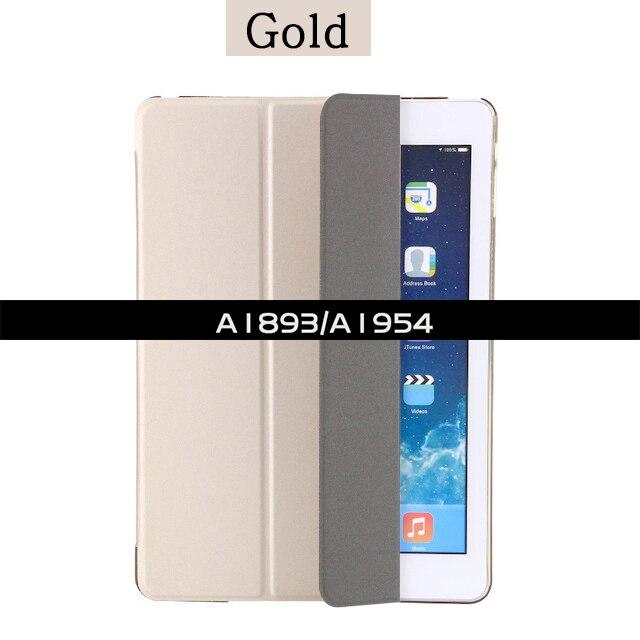 Ультратонкий Магнитный чехол для iPad 9,7 A1822/A1893 умный чехол из искусственной кожи чехол для автоматического сна/пробуждения 6-го поколения - Цвет: For iPad 2018