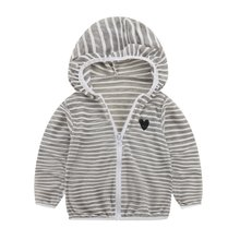 2018 Spring Autumn Jacket for Kids Baby Girls Boys Clothing Coat Long Sleeve Striped Baby Coats(China)