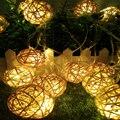 Mejor venta LED luces del árbol de Navidad 5 m 20 luces de cadena de Bolas LED Timbo lámparas jardín colgante de la boda guirnalda 110 V/220 V