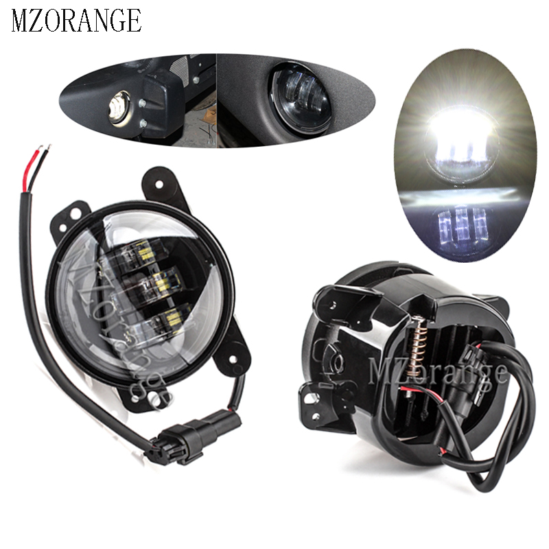 MZORANGE 4 Inch Round led fog lights DRL For Jeep Wrangler Dodge Chrysler Offroad Projector Lens 4 39 39 White fog lamp 2pcs in Car Light Assembly from Automobiles amp Motorcycles