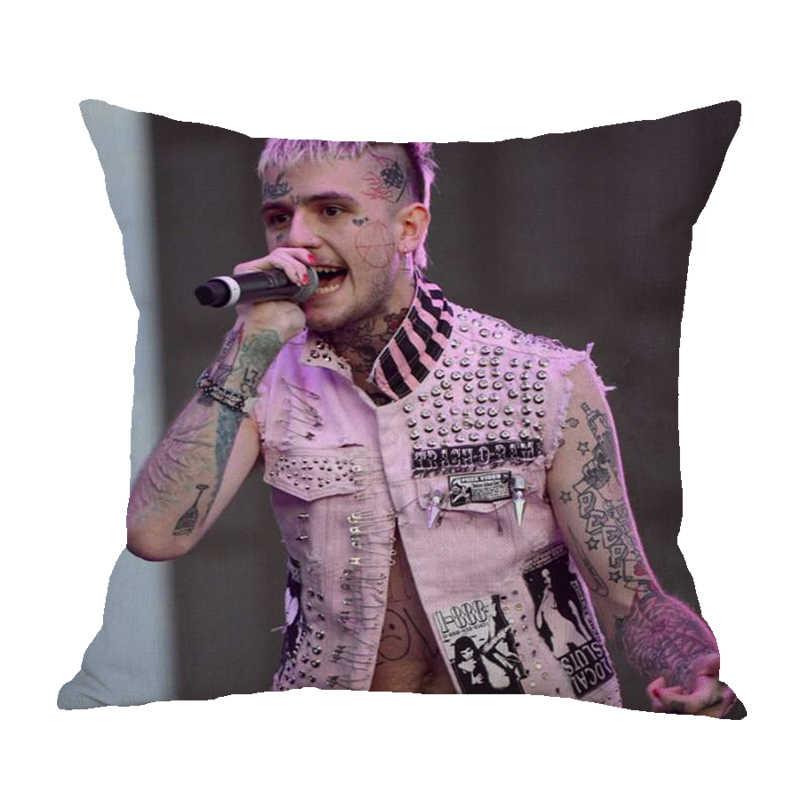 Emo Armadilha Lil peep Fronha 45*45 Almofadas de Linho de Algodão Home Macio Capa de Almofada Decorativa Para Sofá cadeira de Capas de Almofadas