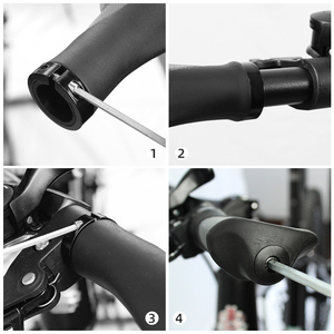 Image 5 - PCycling Ergonomic Bicycle Grips Handlebar TPR Rubber Casing Sheath Tone Non Slip MTB Cycling Hand Rest Shock Absorption Bar End