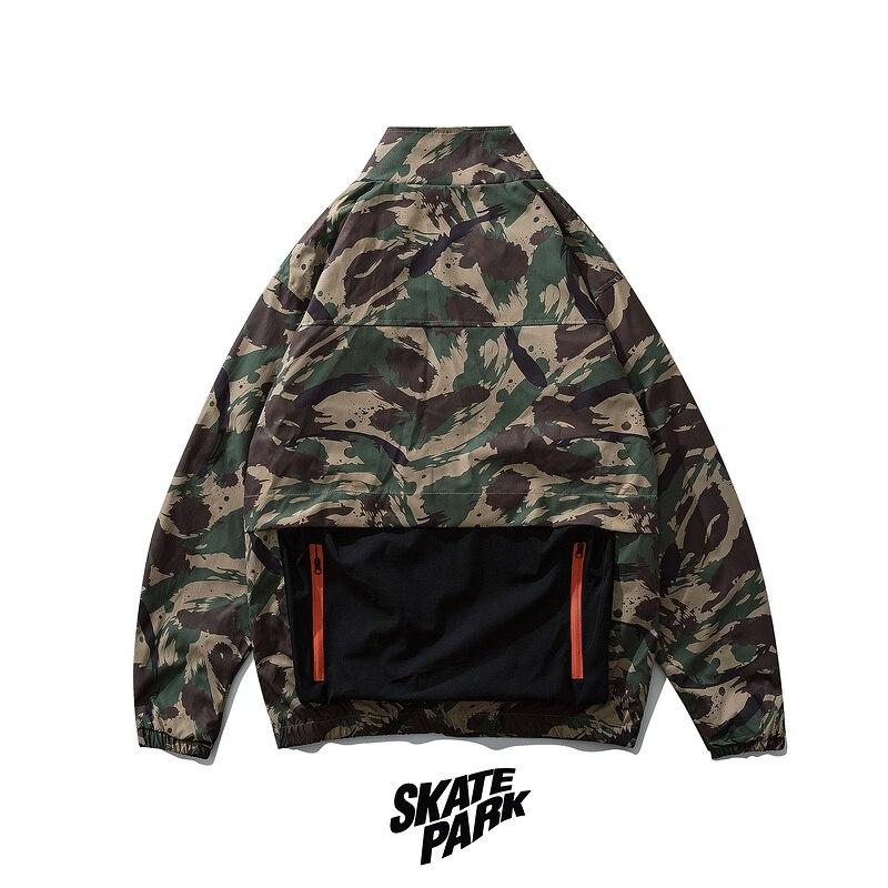 Plegie veste hommes Hip Hop camouflage vestes 2019 automne hommes Harajuku veste coupe-vent Multi poche jaqueta masculino
